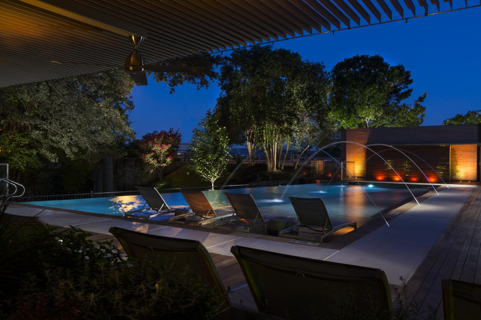 Hotel Pool Area Design Interior